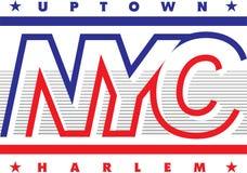 Projeto gráfico para a cópia da camisa de t - NEW YORK ilustração royalty free