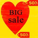 Projeto grande do molde do vetor da oferta especial da venda 50% ilustração royalty free
