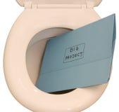 Projeto grande que vai abaixo do toalete Imagens de Stock Royalty Free