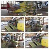 Projeto histórico New York da restauração dos aviões Foto de Stock Royalty Free
