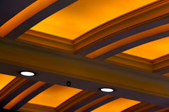 Projeto iluminado do teto Foto de Stock