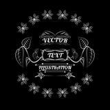 Projeto, ilustração, branco e preto do logotipo das plantas ilustração do vetor