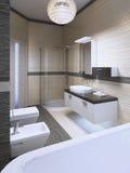 Projeto impressionante do banho moderno Fotos de Stock Royalty Free