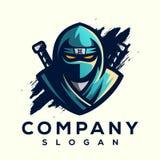 Projeto impressionante do logotipo do ninja pronto para uso ilustração do vetor