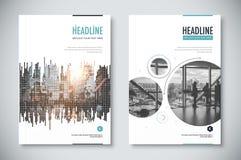 Projeto incorporado do molde do informe anual docu da empresa Foto de Stock
