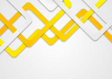 Projeto incorporado do teste padrão das listras abstratas da laranja Foto de Stock Royalty Free