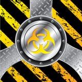 Projeto industrial do fundo com bio sinal de perigo ilustração stock