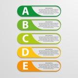 Projeto infographic colorido no fundo cinzento Fotos de Stock