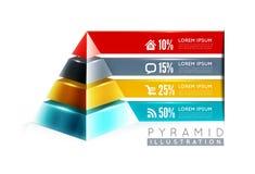 Projeto infographic da pirâmide Foto de Stock Royalty Free
