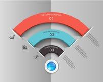 Projeto infographic do elemento da conexão de Wifi Fotos de Stock
