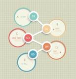 Projeto infographic do molde dos círculos mínimos projeto da etiqueta com lugar para seu índice Imagens de Stock Royalty Free