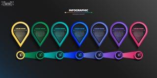 Projeto infographic do vetor com c?rculos coloridos Conceito do neg?cio ilustração do vetor