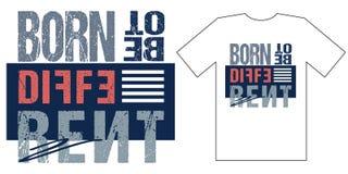 Projeto inspirador do fato no estilo moderno , gráficos do t-shirt Projeto do vetor ilustração royalty free