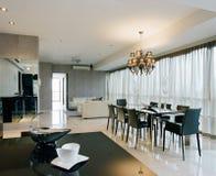Projeto interior - área de jantar Imagem de Stock Royalty Free
