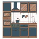 Projeto interior da cozinha Fotos de Stock
