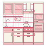Projeto interior da cozinha Imagem de Stock