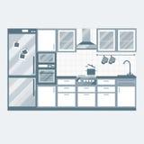 Projeto interior da cozinha Foto de Stock