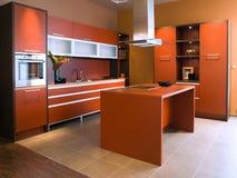 Projeto interior da cozinha bonita e moderna. Fotos de Stock Royalty Free