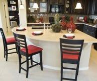 Projeto interior da cozinha moderna Imagens de Stock