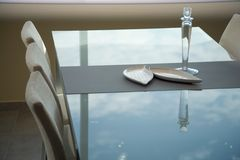 Projeto interior da sala de jantar. Elegante e luxuoso. Foto de Stock Royalty Free