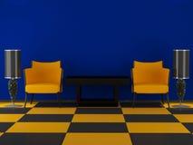 Projeto interior da sala de visitas luxuosa Fotos de Stock