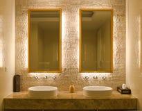Projeto interior de um banheiro Fotografia de Stock