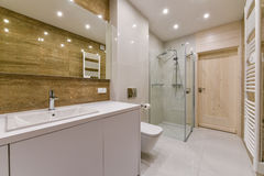 Projeto interior do banheiro fotos de stock