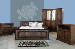 Projeto interior do quarto clássico Foto de Stock Royalty Free