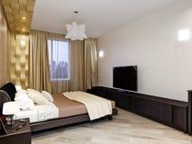 Projeto interior do quarto moderno Fotografia de Stock