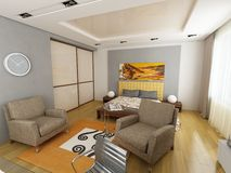 Projeto interior moderno Foto de Stock