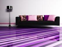 Projeto interior moderno da sala de visitas Fotos de Stock Royalty Free