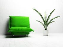 Projeto interior moderno da sala de visitas Imagens de Stock Royalty Free