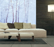 Projeto interior moderno da sala de visitas Imagem de Stock