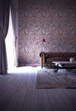 Projeto interior moderno da sala de visitas Fotografia de Stock