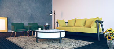 Projeto interior moderno da sala de visitas Imagem de Stock Royalty Free