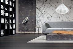 Projeto interior moderno da sala de visitas Imagens de Stock