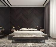 Projeto interior moderno do quarto imagens de stock royalty free