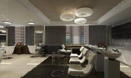 Projeto interior moderno (o apartamento 3d do privat rende Fotografia de Stock