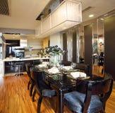 Projeto interior moderno - sala de jantar Foto de Stock