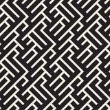 Projeto irregular de Maze Shapes Tiling Contemporary Graphic Vector o teste padrão sem emenda ilustração royalty free