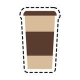 Projeto isolado da caneca de café Imagem de Stock