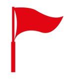 projeto isolado do ícone da bandeira vermelha Imagens de Stock