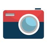 Projeto isolado do ícone da câmera fotográfica ilustração do vetor