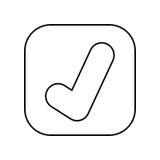 projeto isolado do ícone do botão aprovado do símbolo Fotos de Stock Royalty Free