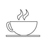 Projeto isolado do copo de café Foto de Stock Royalty Free