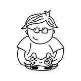 projeto isolado jogo de vídeo do ícone do playin do gamer Fotografia de Stock