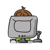projeto isolado jogo de vídeo do ícone do playin do gamer Foto de Stock