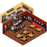 Projeto isométrico de um restaurante Imagem de Stock Royalty Free