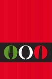 Projeto italiano do menu Fotografia de Stock Royalty Free