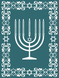 Projeto judaico do menorah, ilustração do vetor Fotos de Stock